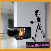 Alien Aliens Ufo Vinyl Wall Decal - Wall Sticker - Car Sticker Alienst010 SWD