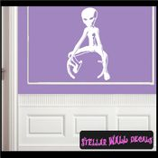Alien Aliens Ufo Vinyl Wall Decal - Wall Sticker - Car Sticker Alienst016 SWD