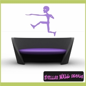 Alien Aliens Ufo Vinyl Wall Decal - Wall Sticker - Car Sticker Alienst023 SWD