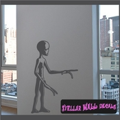 Alien Aliens Ufo Vinyl Wall Decal - Wall Sticker - Car Sticker Alienst030 SWD