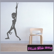 Alien Aliens Ufo Vinyl Wall Decal - Wall Sticker - Car Sticker Alienst037 SWD