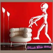 Alien Aliens Ufo Vinyl Wall Decal - Wall Sticker - Car Sticker Alienst041 SWD