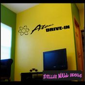 Atomic Drive In ANTIQUES Vinyl Wall Decal - Wall Sticker - Car Sticker AntiquesMC046 SWD