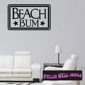 Beach Bum Summer Holiday Wall Decals - Wall Quotes - Wall Murals HD127 SWD