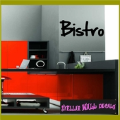 Bistro Wall Quote Mural Decal SWD