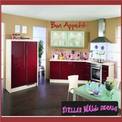 Bon appetit Wall Quote Mural Decal SWD