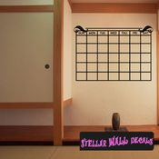 Calendar Border Pattern Weekly D�cor Vinyl Calendar Wall Quote Mural Decal CA012 SWD