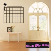 Calendar Palm Tree Tropical Weekly Vinyl Calendar Wall Quote Mural Decal CA006 SWD