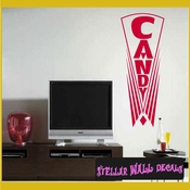 Candy ANTIQUES Vinyl Wall Decal - Wall Sticker - Car Sticker AntiquesMC027 SWD