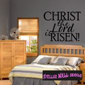 Christ the lord is risen Easter Holiday Wall Decals - Wall Quotes - Wall Murals HD078 SWD