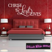 Christ the lord lives Easter Holiday Wall Decals - Wall Quotes - Wall Murals HD077 SWD
