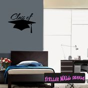 Class of your year Graduation Grad Wall Decals - Wall Quotes - Wall Murals OC021 SWD