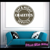 Day and Night Cigarettes Service ANTIQUES Vinyl Wall Decal - Wall Sticker - Car Sticker AntiquesMC030 SWD