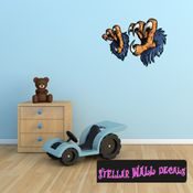 Eagle Claws Wall Decal - Wall Fabric - Repositionable Decal - Vinyl Car Sticker - usc004
