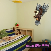 Eagle Wall Decal - Wall Fabric - Repositionable Decal - Vinyl Car Sticker - usc002