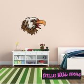 Eagle Wall Decal - Wall Fabric - Repositionable Decal - Vinyl Car Sticker - usc003