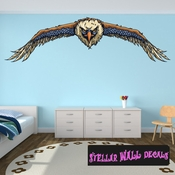 Eagle Wall Decal - Wall Fabric - Repositionable Decal - Vinyl Car Sticker - usc005