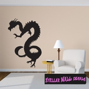 East DRAGON DRAGONS Vinyl Wall Decal - Wall Mural - Car Sticker DragonEastST0002 SWD