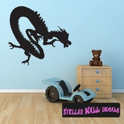 East DRAGON DRAGONS Vinyl Wall Decal - Wall Mural - Car Sticker DragonEastST0004 SWD
