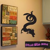 East DRAGON DRAGONS Vinyl Wall Decal - Wall Mural - Car Sticker DragonEastST0007 SWD