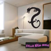 East DRAGON DRAGONS Vinyl Wall Decal - Wall Mural - Car Sticker DragonEastST0009 SWD
