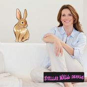 Easter Bunny Wall Decal - Wall Fabric - Repositionable Decal - Vinyl Car Sticker - usc003