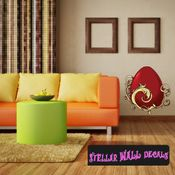 Easter Egg Wall Decal - Wall Fabric - Repositionable Decal - Vinyl Car Sticker - usc002