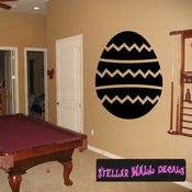 Easter eggs spiral design zig zag Easter Eggs Holiday Egg Wall Decals - Wall Quotes - Wall Murals CP053 SWD