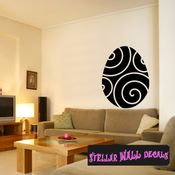Easter spiral design fashion Easter Eggs Holiday Egg Wall Decals - Wall Quotes - Wall Murals CP050 SWD