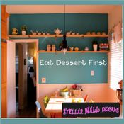 Eat dessert first Wall Quote Mural Decal SWD