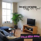 Every end is a new beginning Happy New Year New Year's years Holiday Wall Decals - Wall Quotes - Wall Murals HD151 SWD