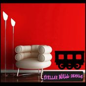 Extra Train Cart 04 Transportation Vinyl Wall Decal Sticker Mural Quotes Words CP093 SWD