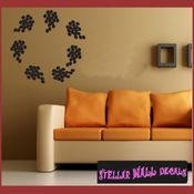 Grapes border wall picture frame Modern Wall Art Vinyl Wall Decal Sticker Mural Quotes Words ART05B1 SWD
