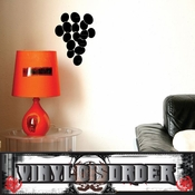 Grapes border wall picture frame Modern Wall Art Vinyl Wall Decal Sticker Mural Quotes Words ART05K1 SWD