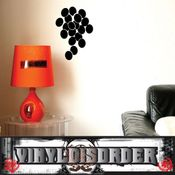 Grapes d�cor border wall picture frame Modern Wall Art Vinyl Wall Decal Sticker Mural Quotes Words ART05J1 SWD