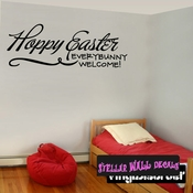 Happy Easter Everybunny Welcome Easter Holiday Wall Decals - Wall Quotes - Wall Murals HD076 SWD