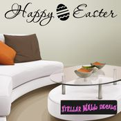 Happy Easter Holiday Wall Decals - Wall Quotes - Wall Murals HD007 SWD