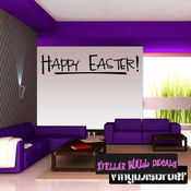 Happy Easter Holiday Wall Decals - Wall Quotes - Wall Murals HD082 SWD