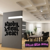 Happy New Year New Year's years Holiday Wall Decals - Wall Quotes - Wall Murals HD146 SWD