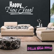 Happy New Year New Year's years Holiday Wall Decals - Wall Quotes - Wall Murals HD147 SWD