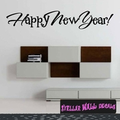 Happy New Year New Year's years Holiday Wall Decals - Wall Quotes - Wall Murals HD148 SWD