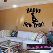 Happy New Year New Year's years Holiday Wall Decals - Wall Quotes - Wall Murals HD154 SWD