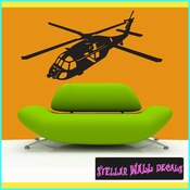 Helicopter NS002 Wall Decal - Wall Sticker - Wall Mural SWD