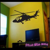 Helicopter NS004 Wall Decal - Wall Sticker - Wall Mural SWD