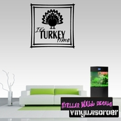 Its Turkey Time Thanksgiving Fall Holiday Wall Decals - Wall Quotes - Wall Murals HD145 SWD