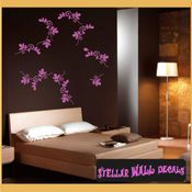 Leaf leaves stems border wall picture frame Modern Wall Art Vinyl Wall Decal Sticker Mural Quotes Words ART05B2 SWD