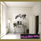 Leaves d�cor border wall picture frame Modern Wall Art Vinyl Wall Decal Sticker Mural Quotes Words ART05J2 SWD