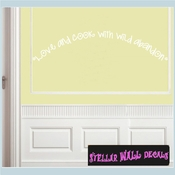 Love and cook with wild abandon Wall Quote Mural Decal SWD
