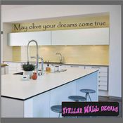 May olive your dreams come true Wall Quote Mural Decal SWD