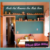Meals and memories are made here Wall Quote Mural Decal SWD